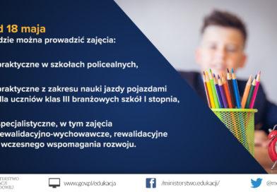 Kalendarz zmian w szkołach i placówkach do wakacji